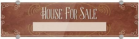 5-Pack 8x3 House for Sale CGSignLab Classic Brown Premium Brushed Aluminum Sign