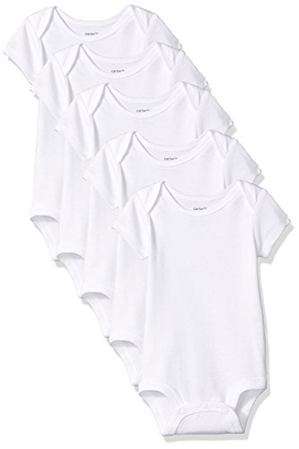 Carter's Baby Unisex 5 Pack White Short Sleeve Bodysuits 24 months