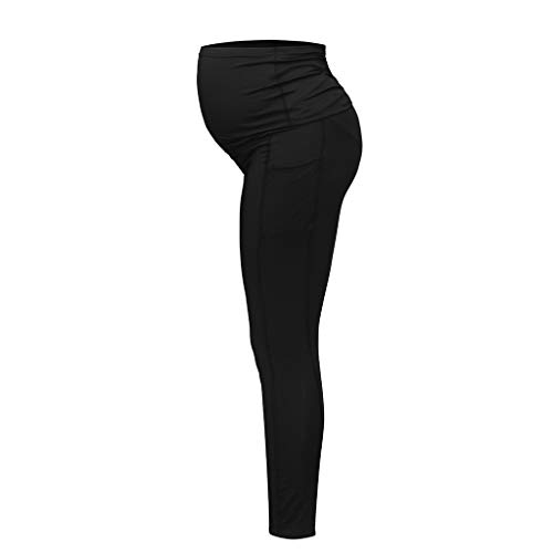 - Maidogu Maternity Pants Women's Maternity Leggings Seamless Yoga Pants Stretch Pregnancy Trousers Black