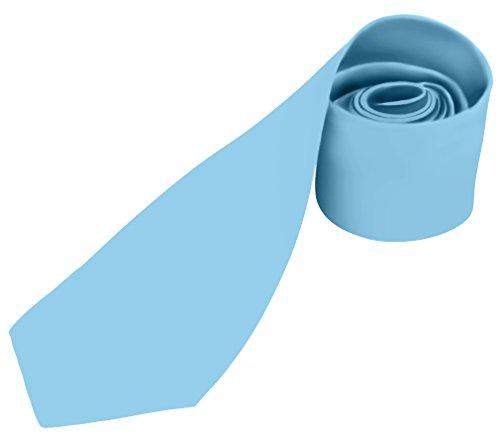 BRAND NEW Mens Necktie SOLID Satin Neck Tie Powder Blue 26