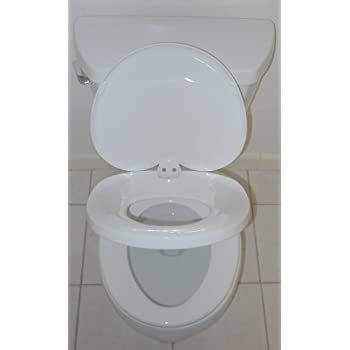 all in one toilet seat. Xpress Trainer Pro All In One Real Simple Potty Training Elongated Family Toilet  Seat Amazon com