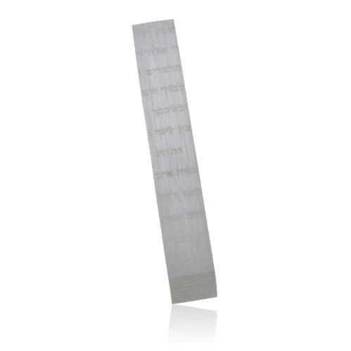 Silver Brushed Aluminum ''Shema'' Mezuzah by Adi Sidler