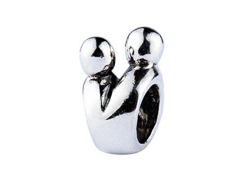 SilveRado Sterling Silver Lovers Bead/Charm
