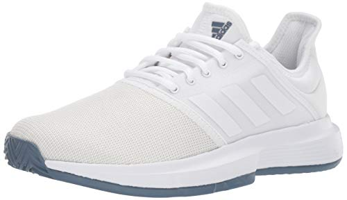 Tennis Racquets Adidas - adidas Men's GameCourt Tennis Shoe, White/tech Ink, 7.5 M US