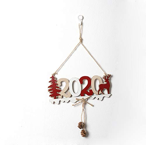 (Christmas Pendant Decor Hanging Ornaments 2020 Merry Christmas Wooden Openwork Letters Christmas Closet Pendants Christmas Tree Hanging Tags (Color 2) )