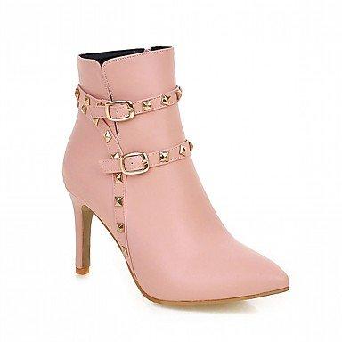 RTRY Zapatos De Mujer De Piel Sintética Pu Novedad Moda Otoño Invierno Confort Botas Botas Chunky Talón Señaló Toe Botines/Botines De Remache Parte US5 / EU35 / UK3 / CN34