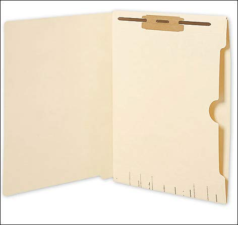 EGP Manila End Tab Folders w/Reverse Full Pocket, 11 pt, Single Fastener, 50 Count by EGPChecks