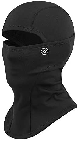 CoolChange Thermal Ski Balaclava Winter Face Mask for Men Women Biking Motorcycle Balaclava Neck Warmer Cold Weather Black, Medium