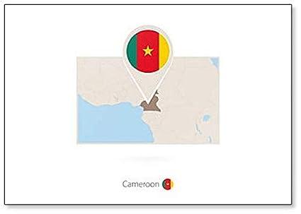 Amazon.com: Map of Cameroon on the World Fridge Magnet ...