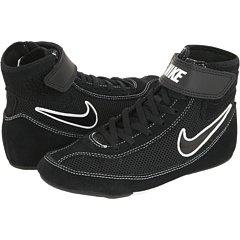 Kids Nike Speedsweep VII Wrestling Shoe Black/White/Black Size 6