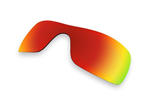 Sunglass Lenses Replacement Polarized for Oakley Batwolf Sunglasses (Red Mirror - Batwolf Polarized Oakleys