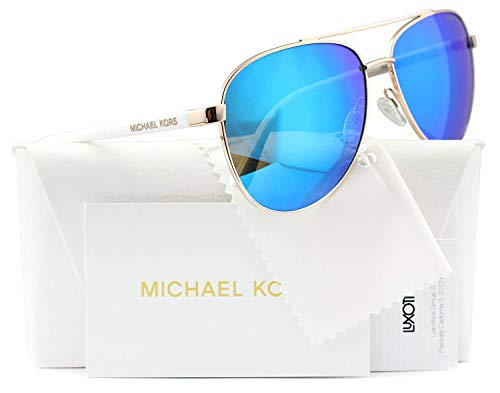 Michael Kors Hvar Sunglasses MK5007 Rose Gold / Blue Mirror 1045/25 59mm