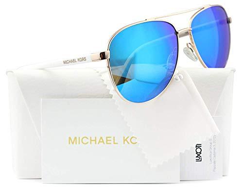Michael Kors Hvar Sunglasses MK5007 Rose Gold / Blue Mirror 1045/25 ()
