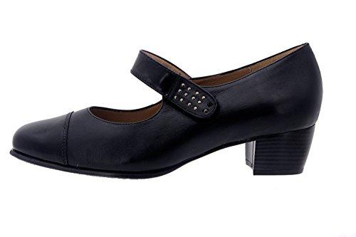 Calzado mujer confort de piel Piesanto 3109 zapato mercedes cómodo ancho Negro