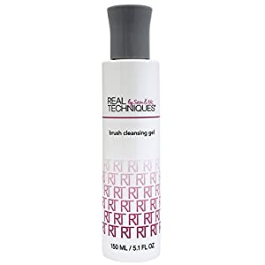 Real Techniques Exclusive Formula, Deep Cleansing Gel Brush Cleaner (Pack of One), Designed to Extend Brush Life, Removes Makeup, Oils, and Impurities From Bristles