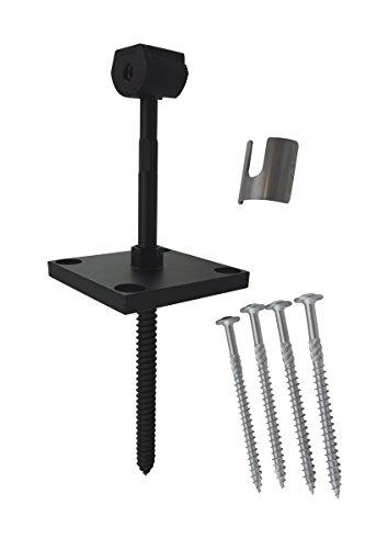 (Zipbolt 17.800 XT Post Anchor - Fasten Surface Mount Exterior Posts to Decking, Patios, Verandas - Includes 6mm Hex Bit with Quick Release Shank)