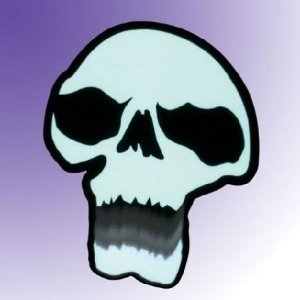 Animated Chomping SKULL Light Up lighted - Halloween Window -