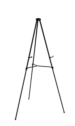 Wedding Easel - Lightweight Aluminum Telescoping Display Easel, 70 Inches, Black