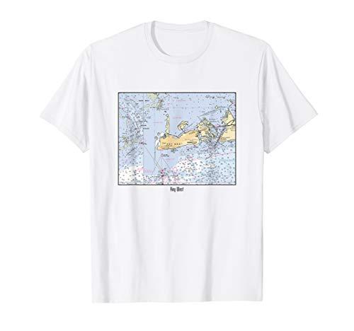 Key West Nautical Marine Chart T-Shirt