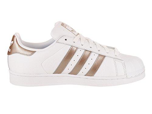 Adidas Originals Women's Superstar W Sneaker, White/Cyber Gold/White, 8.5 M US