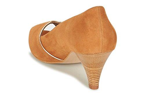11sunshop Lederpumpenmodell GLANYS von HGilliane Design IM 33-44 Brown