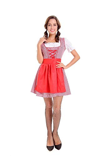 Halloween Costumes Halloween Beer Girl Costume Bavarian Maid Dress Female Play, Style 2, XL]()