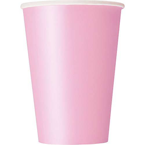 12oz Light Pink Paper Cups, 25ct