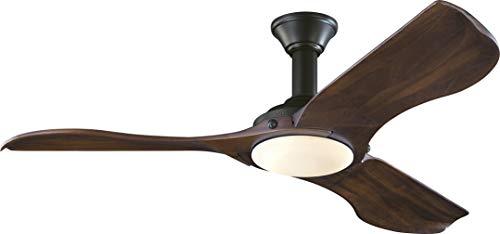 Monte Carlo 3MNLR56BKD-V1 Protruding Mount, 3 Dark Walnut Blades Ceiling fan with 16 watts light, Matte Black
