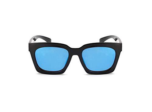 Azul Súper Gafas Pieza Marco Gran Sol Negro Polarizadas liwenjun De Moda Moda Fresca Caja Espejo Gafas Cortinas De De Conducción Retro Sol HCqdaPw