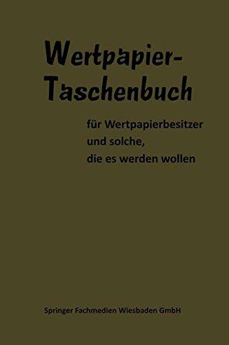 Wertpapier Taschenbuch (German Edition)