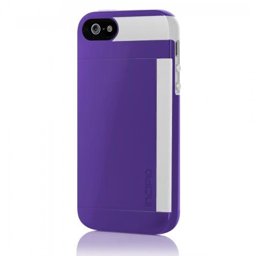 online store 9b01a 5e6ec Incipio IPH-852 Stowaway for iPhone 5-1 Pack - Retail Packaging -  Purple/White