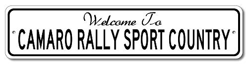 Chevy Camaro Rally Sport - Welcome to Car Country Sign - Aluminum 4
