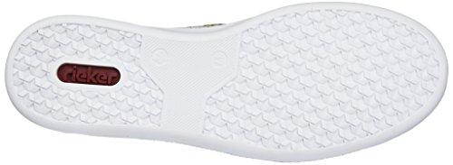 Femme N48g1 37 EU Sneakers Basses Mehrfarbig Rieker q8ZvtPq