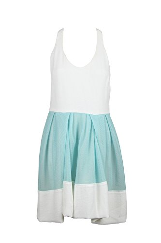 3.1 Phillip Lim Womens Off-White Aqua Sleeveless Mesh Skirt Dress 2 3.1 Phillip Lim Silk Skirt