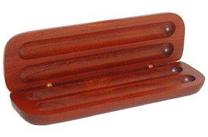 Rosewood Double Pen & Pencil Box -