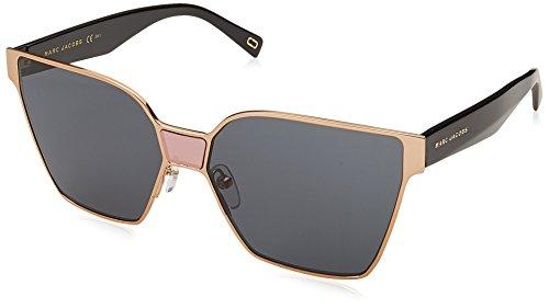Marc Jacobs Women's Square Sunglasses, Gold/Grey, One - Jacobs Sunglasses Marc Square