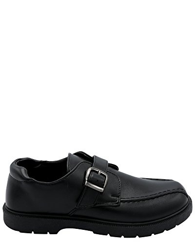 Eddie Marc Kids Boy's School Shoe (Little Kid/Big Kid),Black/Black,4 by Eddie Marc Kids