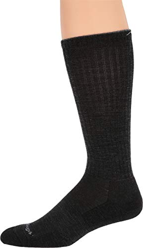 (Darn Tough Vermont Men's in-Town Series Standard Issue Crew Socks Cushion, Charcoal,)