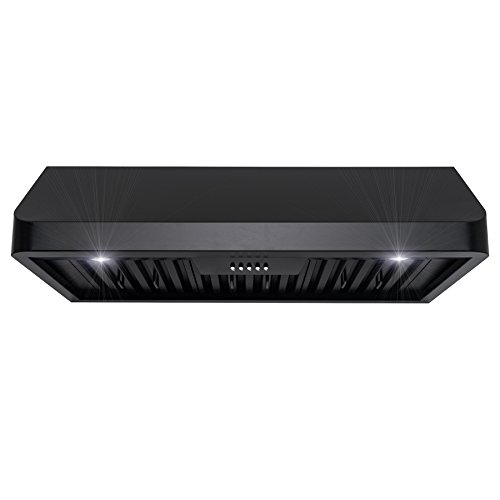 FIREBIRD 36'' European Style Under Cabinet Stainless Steel Range Hood Vent W/ Push Button Control Baffle Filters by Firebird