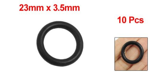 DealMux 10 Pcs 23mm x 3.5mm Black Silicone O Rings Oil Seals Gaskets