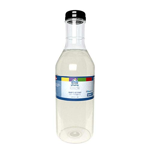 Ralph's Coconut Snow Cone Syrup | 32oz | Made With Pure Sugar | Easy Pour & Store Flip Cap Included (Pre-Attached)