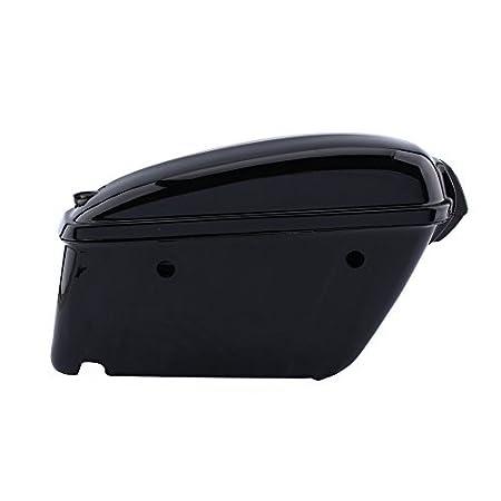 Costway Universal Motorcycle Side Pannier Boxes Hard Saddle Bags Hard Case Rack Cruiser