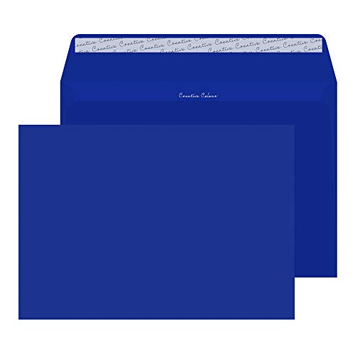Blake Creative Color,  Bright Blue Invitation Envelopes, 9 x 12 3/4 Inches, Victory Blue, 80lb Paper, Peel & Seal  (443-76) - Pack of 250