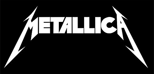ANGDEST Metallica Rock Band Logo (WHITE) (set of 2) Premium Waterproof Vinyl Decal Stickers Laptop Phone Helmet Car Window Bumper Mug Tuber Cup Door Wall Decoration