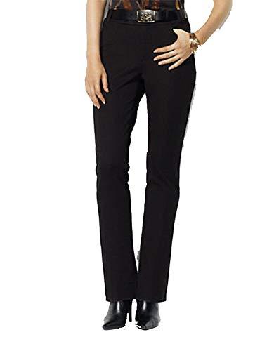 (Lauren Ralph Lauren Petite Petite Twill Modern Straight Pant (Black,)