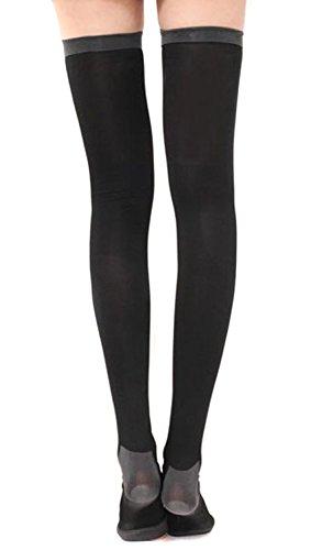 4ed48603a870c Amazon.com  Natuworld Women s Slim Sleeping Beauty Leg Shaper Soft  Breathable Compression Long Flexible Elastic Slimmer Thigh High Stocking  Compression ...