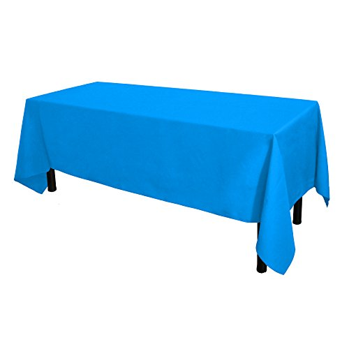 GlaiEleh Rectangle Tablecloth - 60 x 102 Inch - Caribbean Rectangular Table Cloth for 6 Foot Table in Washable Polyester - Great for Buffet Table, Parties, Holiday Dinner, Wedding & More