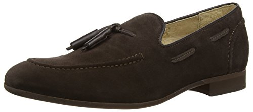 Mens H by Hudson Pierre Suede Slip On Smart Work Office Casual Shoes Tan