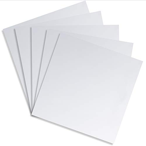 Juvale Square Adhesive Mirror Sheet Tiles for Wall Decor (5 Count), 12 Inches (12 Mirror Square)