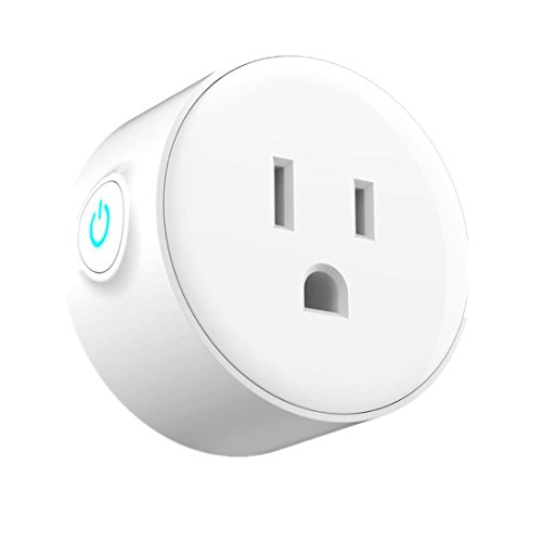 Amiley Smart Switch, Smart Plug Wi-Fi Enabled Mini Outlets Smart Socket Control Your Electric Devices from Anywhere Works with Amazon Alexa and IFTTT Google Assistant (White)